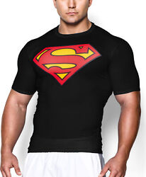 Mens Gym T Shirt Bodybuilding Fitness Training Muscle Superhero Compression Tops $8.99