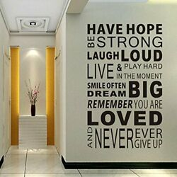 Inspirational Wall Decals QuotesWord Wall Sticker Have Hope $19.10