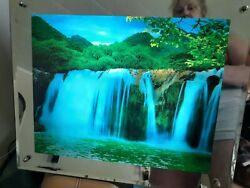 Vintage Light Up Waterfall Motion Wall Picture smaller version 16 by 13 $44.95