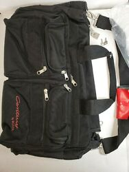 VINTAGE CENTURY BY BUICK BLACK NYLON SOFT SIDED TRAVEL DUFFEL BAG WITH KEYS NEW $59.95