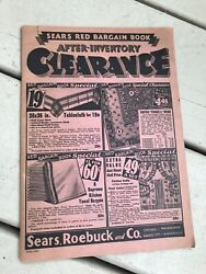1932 Sears Red Bargain Book After Inventory Clearance Z $9.00