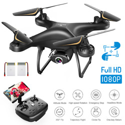 SNAPTAIN SP650 RC Drone HD 1080P Wide Angle Camera FPV Voice Control Quadcopter $59.63