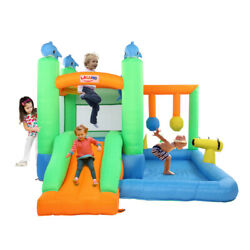 Safe Inflatable Bounce House Kids Slide Jumping Bouncer Castle w Water Pool $195.88