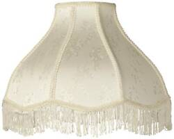 Lamp Shade Cream Large Scallop Dome 6quot; Top x 17quot; Bottom x 11quot; Height Spider $49.99