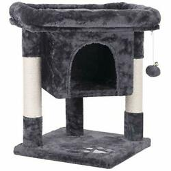 BEWISHOME Cat Tree Cat House Cat Condo with Sisal Scratching Smoky Grey $99.80