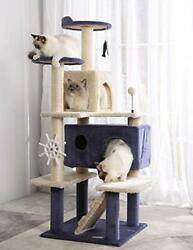 Cat Tree Cat Tower Cat Condo Sisal Scratching Posts with Large 5 Platforms $136.88