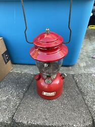 Vintage Red Coleman 200A Single Mantle Dated 2 72 With Coleman Globe $175.00