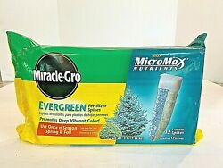 Miracle Gro EVERGREEN FERTILIZER SPIKES 12 SPIKES W MICROMAX NUTRIENTS 12 6 12 $25.00