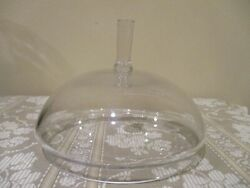 Contemporary Crystal Round Dome Glass Lid 7quot; wide 1pc $10.00