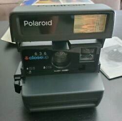 Polaroid 636 Close Up 600 Film Instant Film Camera Vintage with box instructions $24.99