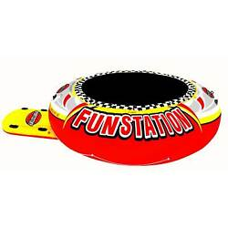 Sportsstuff 10#x27; PVC Inflatable Water Trampoline Kids Jump Bouncer For Parts $219.99