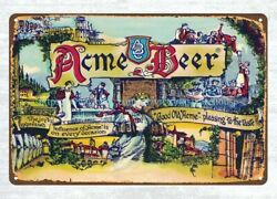 Acme Beer metal tin sign wall designs for living room $16.98