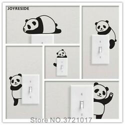 5 Pandas Set Lovely Funny Light Switch Simple Wall Decal DIY room decor $6.87