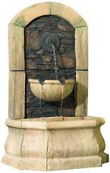 Rustic Outdoor Wall Water Fountain 50quot; Tiered Tuscan for Yard Garden Patio Home $599.99