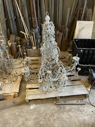 One antique crystal chandelier terminal tower 44W by 42H 12 Arm $4400.00