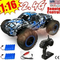 Electric RC Cars 1 16 Monster Truck Off Road Vehicle Remote Control Crawler Gift $36.99