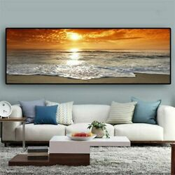 Sea Beach Landscape Posters Prints Canvas Painting Canvas Wall Art Wall Pictures $26.95