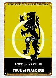 wall pub cafe home plaques TOUR of FLANDERS Cycle Racing metal tin sign $16.98