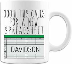 Oooh This Calls For A Spreadsheet Personalized Gifts Unique Coffee Or Tea Gift $13.99