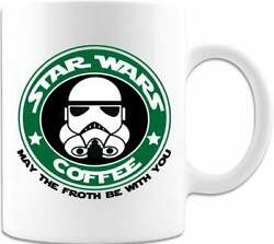 Starwars Gift May The Froth Be With You Unique Coffee Cup Cool Gift Ideas Coffee $12.99