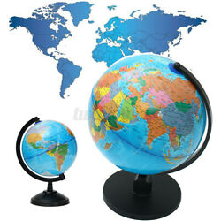 10quot; Stand Rotating World Globe Map Kid Gift School Student Geography Educational $26.99