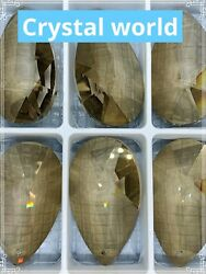 5 Tear Drop custom replacement crystal parts ASFOUR amber 873 pear shaped 2.5quot; $23.71
