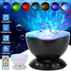 LED Galaxy Starry Night Light Projector Ocean Star Sky Party Speaker Lamp Remote $19.98