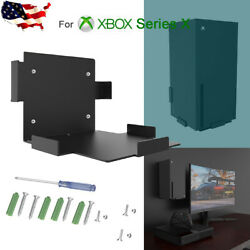 For XBox Series X Console Wall Metal Mount Kit Black Steel Bracket With Screws $33.95