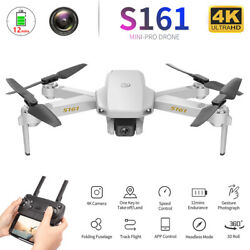 S161 Pro Drone Camera 4K Gesture Photos Speed Control Quadcopter 2Batteries A2Z3 $30.88