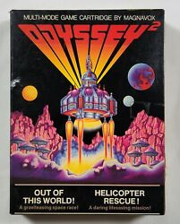 Out Of This World Helicopter Rescue AK9419 for Odyssey 2 Game Box Manual $8.99