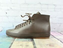 Feit Womens Brown Ankle Handmade Lace Up Leather Boots Size 11