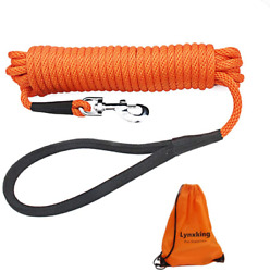 lynxking Check Cord Dog Lead Long Dog Training Leash Tracking Line with Comforta $22.64
