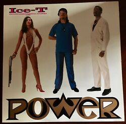 Ice T: Power Gold Stamp Promo Embossed Cover Vinyl LP 1988 Sire $70.00