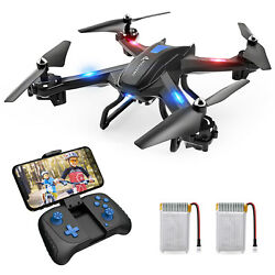 SNAPTAIN RC Drones with 2K HD Video Camera Quadcopter Follow Me App Control $57.99