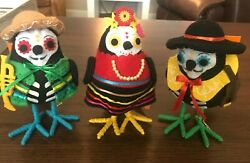 SET 2017 Target Birds Day Of The Dead Guitarrista Trompetista Cantante WITH TAGS $75.00