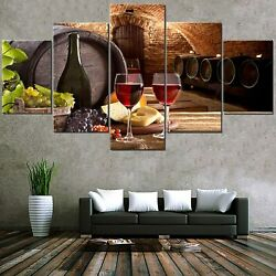 Wall Decor for Dining Room Kitchen Wine Grapes Pictures Fruit Canvas Paintings $56.34