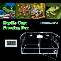 Double Tank Cage Pet Reptile Enclosure Habitat For Snake Insect Acrylic Pet Box $26.40