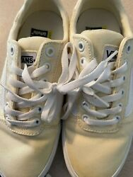 NEW WOMENS VANS OFF THE WALL PALE YELLOW SKATE SNEAKERS ORTHOLITE sz 7 $28.95