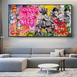 Wall Art Canvas Paintings on The Wall Follow Your Dream Graffiti Art Street Home $16.99