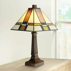 Tiffany Style Accent Table Lamp 14 1 4quot; LED Stained Glass for Bedroom Office $69.99