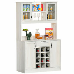 Large Kitchen Storage Pantry Dining Room Entryway Cabinet w Adjustable Shelves $369.82