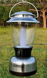 Coleman LED Camping Emergency Outdoor 8D Lantern 13quot; Tall Model #5329 $9.95