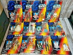Lot of 12 Star Wars THE POWER OF THE FORCE action figures 1990#x27;s on cards $65.00
