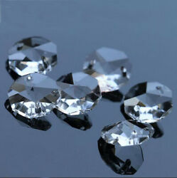 30pcs 14mm Clear Crystal Octagonal beads Decoration Crystal chandelier parts #1 $2.00