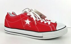 Converse One Star Women#x27;s Red Low Top Canvas Sneakers Lace Up Size US 10 UK 8 $30.00