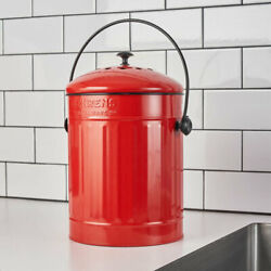 1.5 Gallon Compost Pail In Red FreeShipping $39.60
