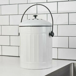 1.5 Gallon Compost Pail In White FreeShipping $39.60