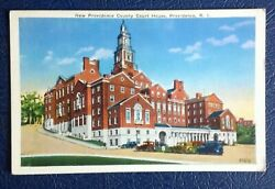 NEW PROVIDENCE COUNTY COURT HOUSE PROVIDENCE RHODE ISLAND 1930s $1.30