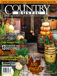 Country Rustic Magazine FALL 2021 Issue Country Primitives amp; Farmhouse Style $9.95