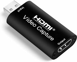Audio Video Capture Cards HDMI to USB 2.0 High Definition 1080p 30fps Record Di $25.64